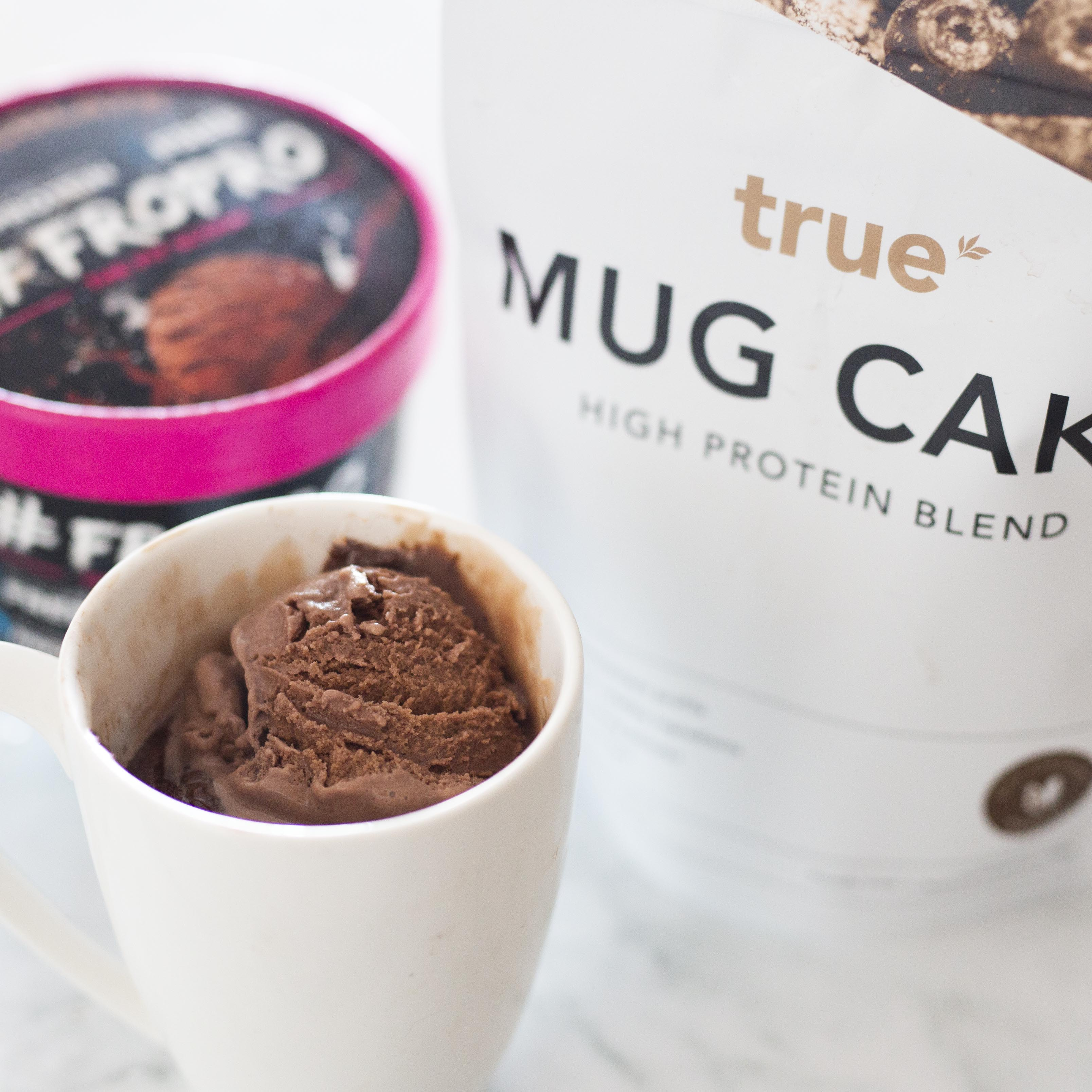 True Protein Mug Cake with Chocolate FroPro!